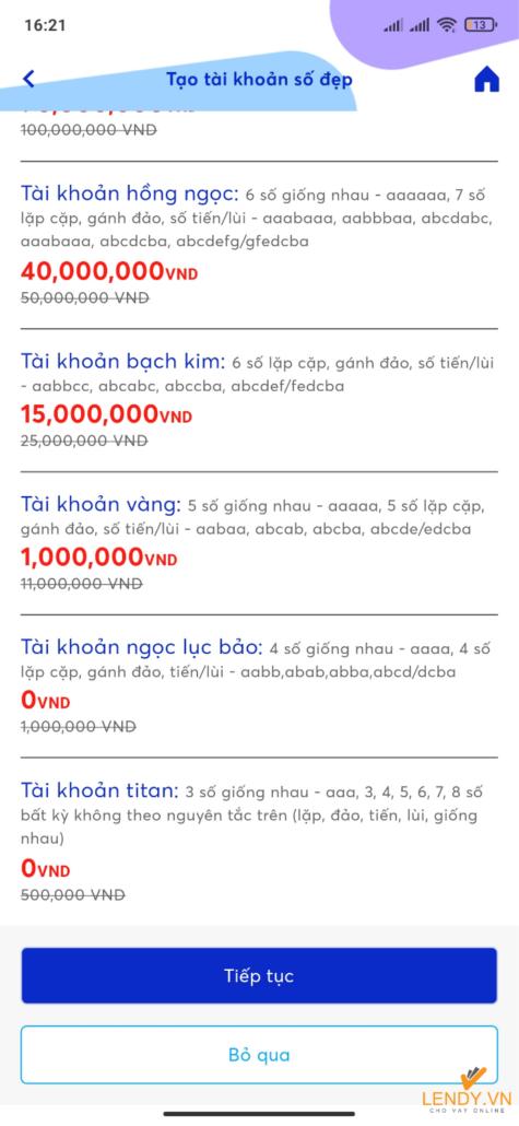 Đăng ký tài khoản MB Bank qua APP nhận STK tứ quý 10