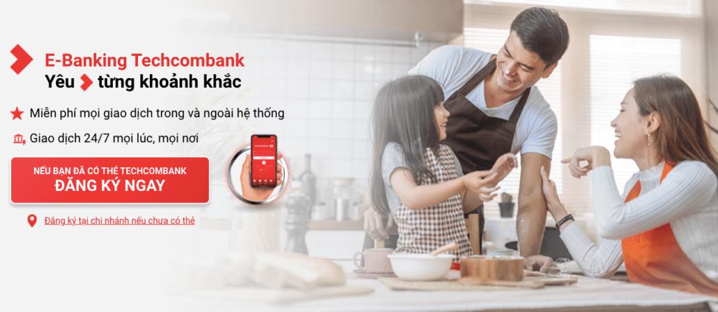 E-Banking của Techcombank miễn phí dịch vụ chuyển tiền liên ngân hàng