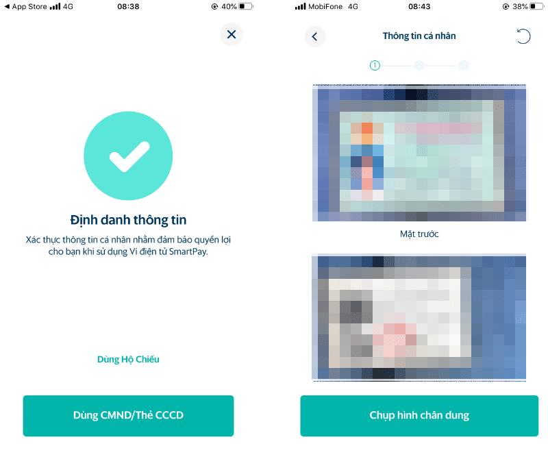 Định danh thông tin ví điện tử SmartPay