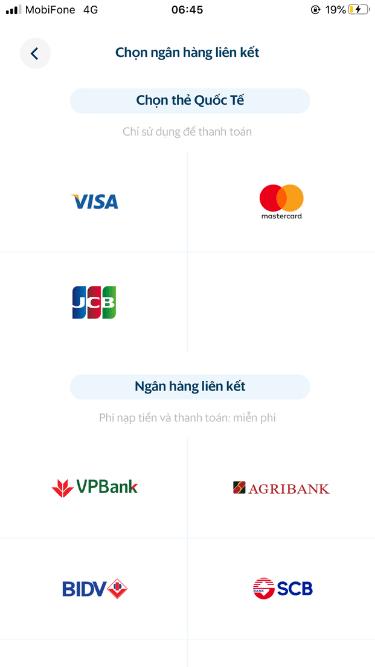 Liên kết tài khoản ngân hàng với ví điện tử SmartPay