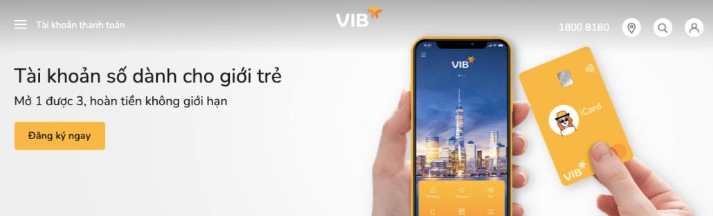 VIB miễn phí nhiều dịch vụ trong đó có dịch vụ chuyển tiền