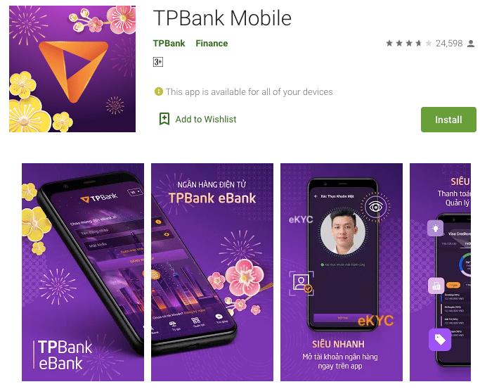 Mở tài khoản TPbank online, định danh 5s