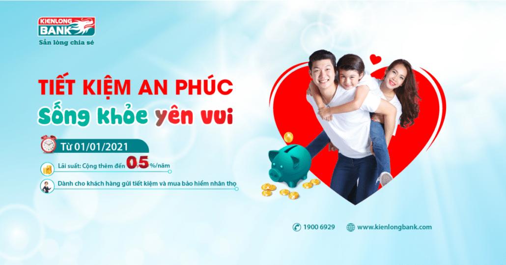Gửi tiết kiệm tại Kiên Long bank nhận khuyến mãi