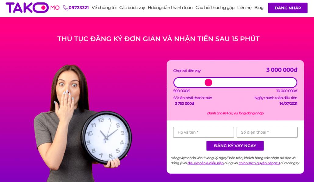 Takomo: Vay online 24/7