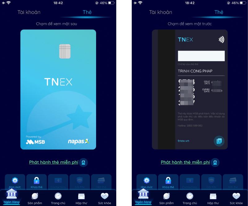Đăng ký mở thẻ TNEX