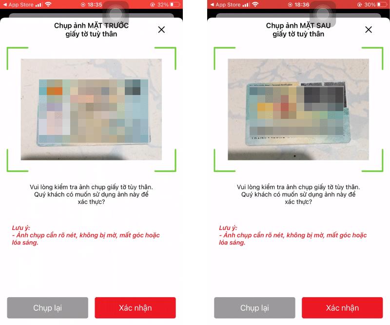 Techcombank yêu cầu chụp 2 mặt CCCD